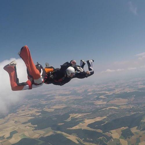 Skytandem AFF-Schnuppersprung Freifall Höhenkontrolle