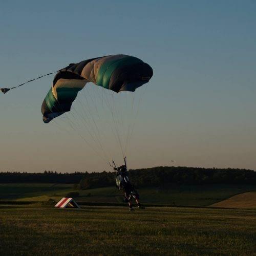 Skytandem Solosprung Landung